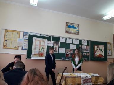 Відкритий урок з укр.літ. ,8 кл.